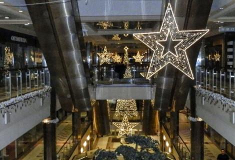 Sadyba Best Mall – dekoracja świąteczna